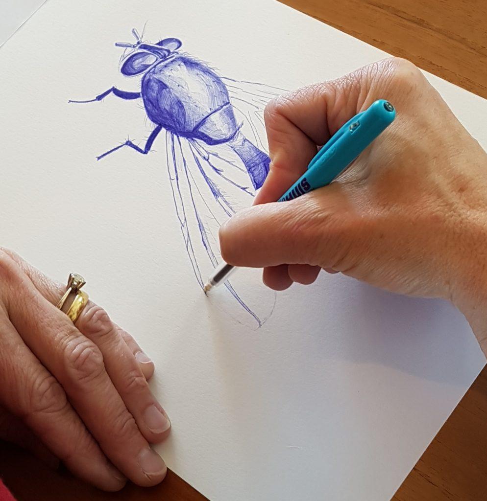 Cursist Cultuurhuis Heemskerk bij de insecten workshop